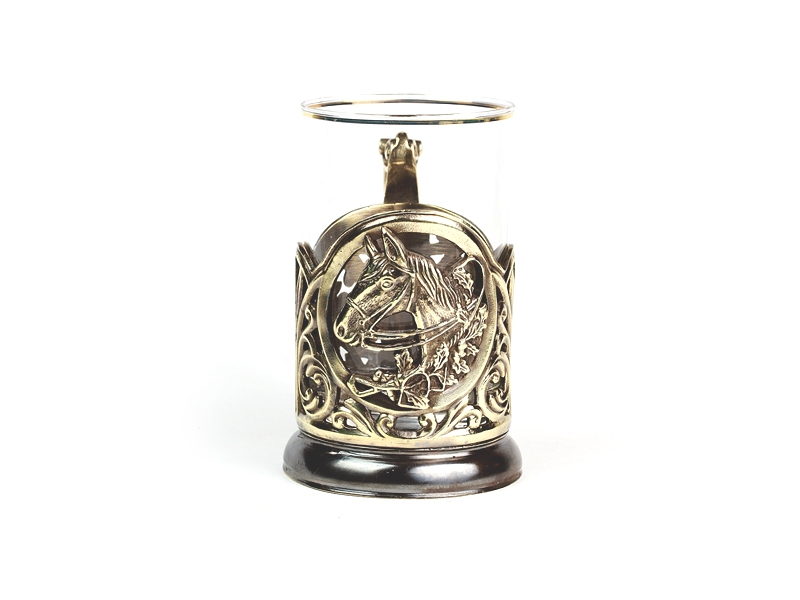 Подстаканник из латуни Лошадь - Заказывайте на сайте Ренессанс