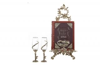 Вино и еда краткий курс для гурманов в наборе с винными бокалами Ангел