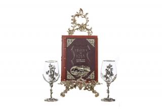 Вино и еда краткий курс для гурманов в наборе с винными бокалами Виноград
