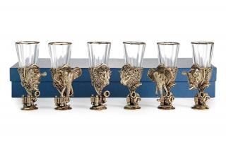 Лафитники Трофейные Африка 6шт (лев, носорог, слон)