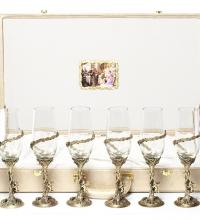 Набор бокалов на 6-ть персон Ангел упаковка кож.зам