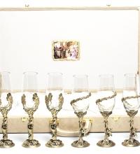 Набор бокалов на 6-ть персон Ангел-Жарптица кож.зам