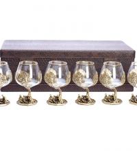 Набор бокалов на 6-ть персон Охота на привале