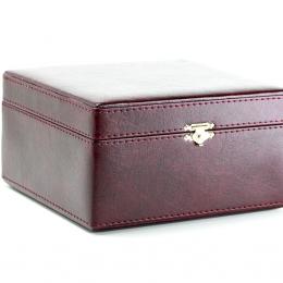 Упаковка для подстаканника зам.кожа бордовая